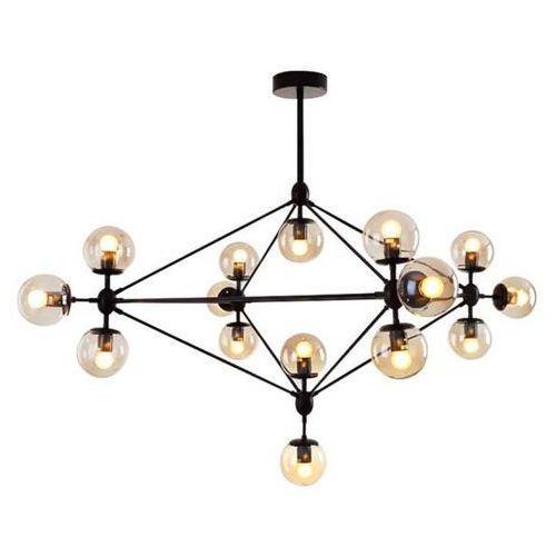 żyrandol Lampa Wisząca Cgpyramid15 Industrialna Oprawa Zwis Molekuły Szklane Kule Balls Loft Czarny Bursztynowe Copel