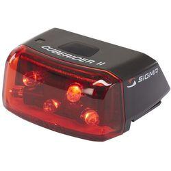 Sigma sport cuberider ii lampka rowerowa tylna czarny lampki tylne na baterie