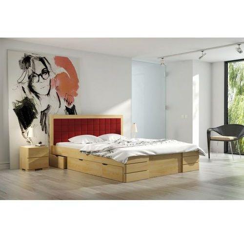 łóżko Sosnowe Gotland High Drawers Visby