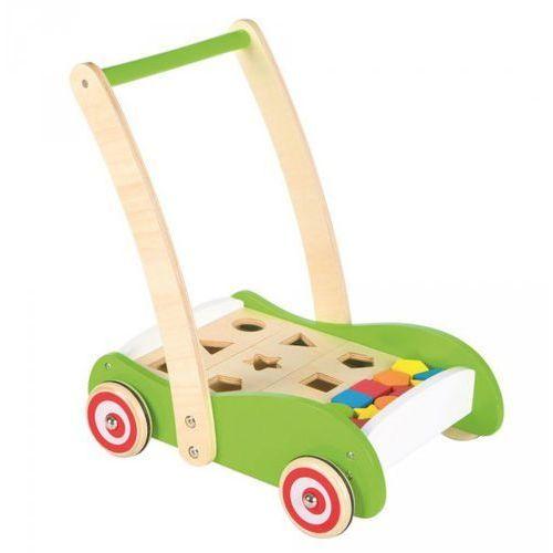 Drewniany wózek geometryczny i sorter Lelin