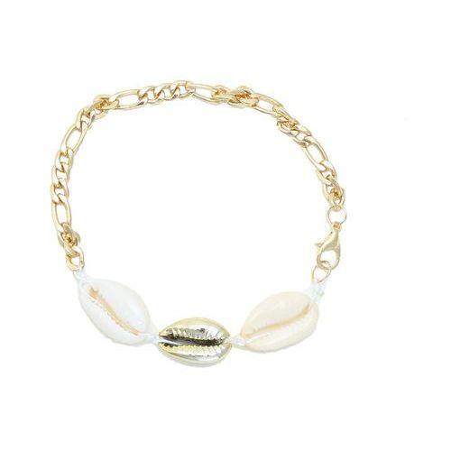No logo Bransoletka damska złota muszelki muszle