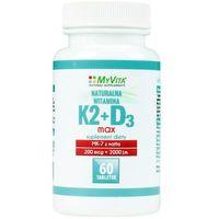 Tabletki Witamina K2 MK-7 MAX + D3 200mcg/2000IU (MyVita) 60 tabl.