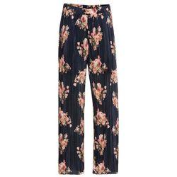 """Bonprix Spodnie ze sztucznej skóry welurowej ze stretchem czarny """"used"""""""