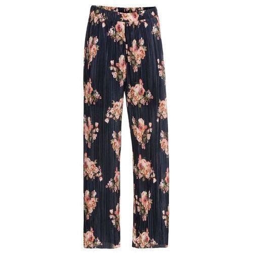 """Spodnie ze sztucznej skóry welurowej ze stretchem bonprix czarny """"used"""", w 4 rozmiarach"""