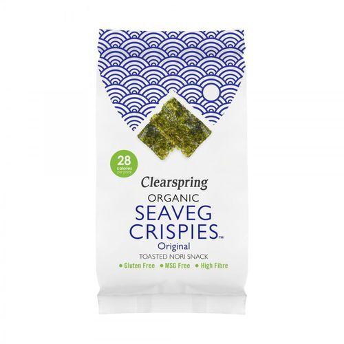 Chipsy z alg morskich naturalne seaveg crispies bezglutenowe bio 4 g Clearspring - Świetna oferta