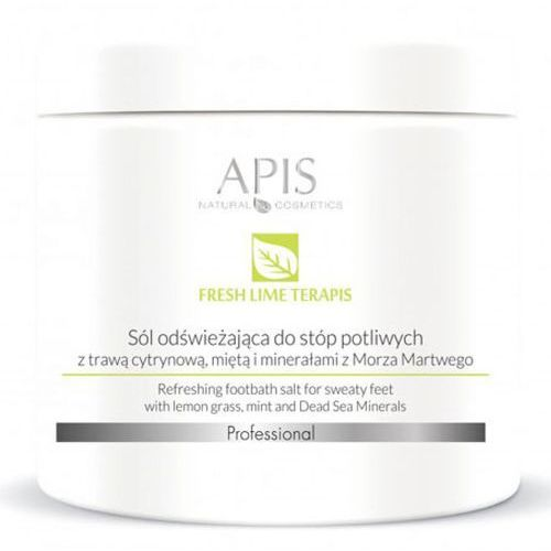 Fresh lime terapis sól odświeżająca do stóp potliwych z tajską trawą cytrynową, miętą i minerałami z morza martwego (51035) Apis - Najlepsza oferta