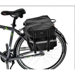 Sakwa na bagażnik podwójna 36l, 35x15x33cm czarna z odblaskami marki Kands