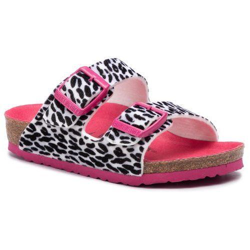 Klapki BIRKENSTOCK - Arizona Kids 1014659 Leo Lilly Black/Pink