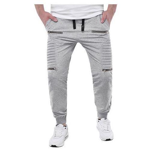01dbbd34d69a Spodnie męskie joggery dresowe atc1670a - szare