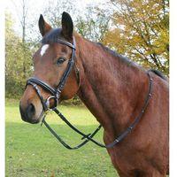 Kerbl ogłowie skórzane, nachrapnik szwedzki, rozmiar pony, 321715 (4018653019863)