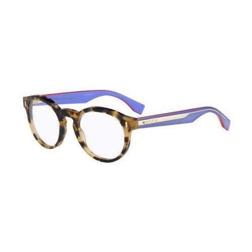 Fendi Okulary korekcyjne ff 0028 color block uev