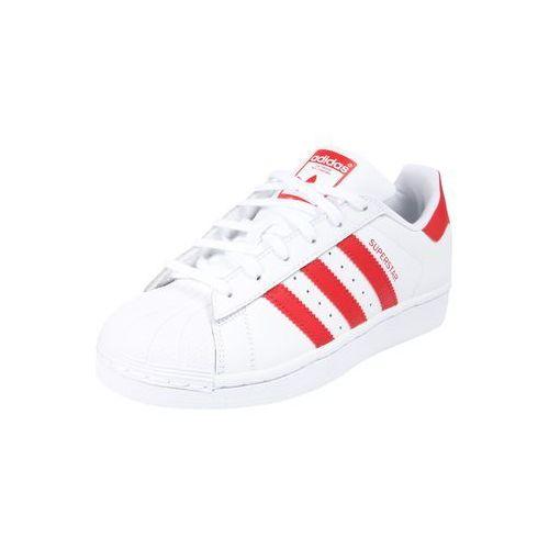 Adidas originals trampki 'superstar j' czerwony / biały