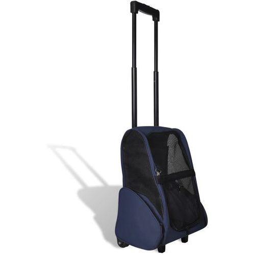 VidaXL Składany wielofunkcyjny wózek na zwierzaki niebieski