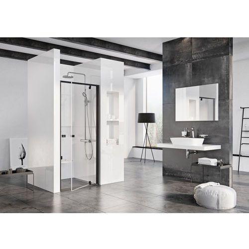 pivot drzwi prysznicowe pdop1-80, wys.190cm czarny + transparent 03g40300z1 marki Ravak