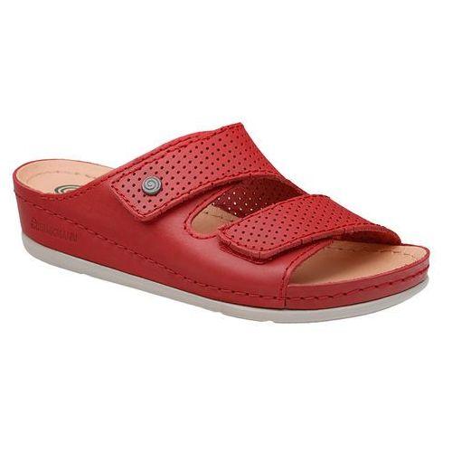 Klapki 700568-4 czerowne rot naturform fussbett - czerwony marki Dr brinkmann