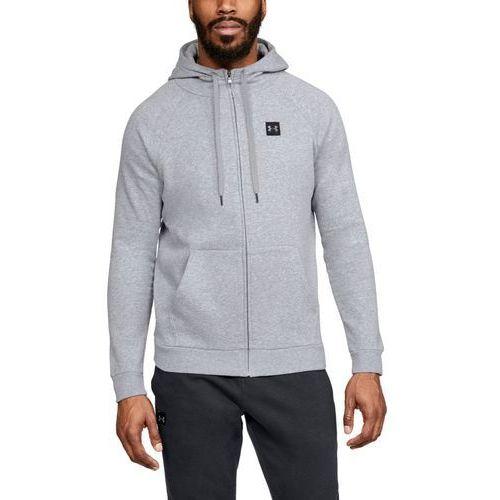 Under armour bluza z kapturem rival fleece fz hoodie szara - szary