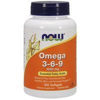 Now Foods Omega 3-6-9 1000mg 100 kaps.