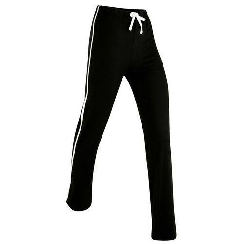 Spodnie sportowe, długie bonprix czarny
