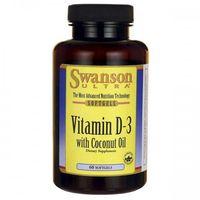 Swanson Witamina D3 2000IU z olejem kokosa - (60 kap)