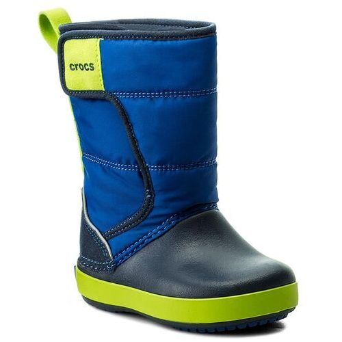 Śniegowce - lodgepoint snow boot k 204660 blue jean/navy marki Crocs
