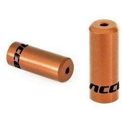 Accent Końcówki pancerza aluminiowe 5 mm, hamulcowe, 100 szt. złote