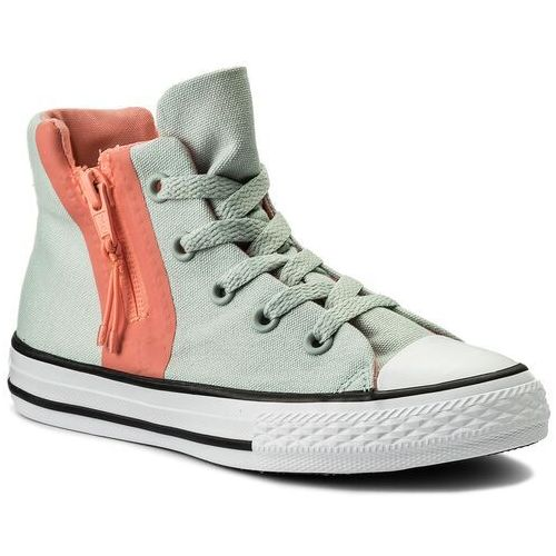 Trampki CONVERSE - Ctas Sport Zip Hi 659992C Dried Bamboo/Crimson Pulse, kolor zielony