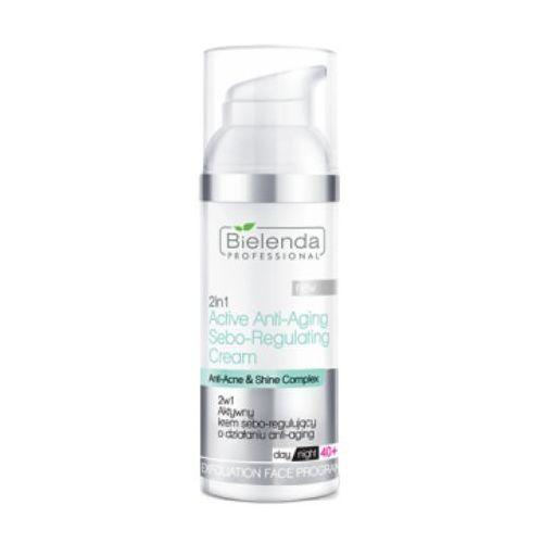 Bielenda professional 2 in 1 active anti-aging sebo-regulating cream 2 w 1 aktywny krem sebo-regulujący o działaniu anti-aging