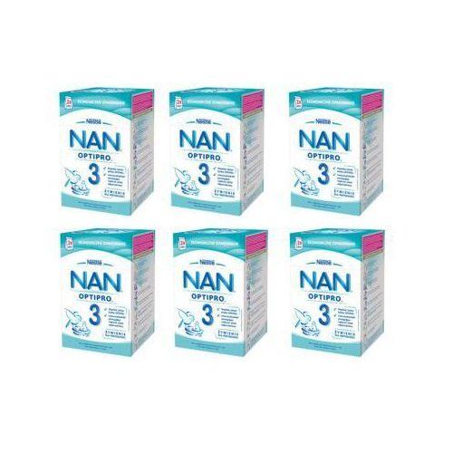 Zestaw 6x NESTLE NAN OPTIPRO 3 800g (2x400g) Mleko następne w proszku dla dzieci od 1 roku, karton
