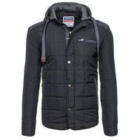 Czarna kurtka męska zimowa Denley 831 - CZARNY Marynarki 89,99 06.10.215 (-40%)