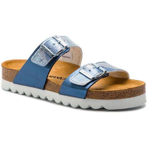 Klapki DR. BRINKMANN - 701273 Blau/Jeans 5, kolor niebieski