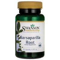 Swanson Kolcorośl Sarsaparyla (Sarsaparilla) 450 mg 60 kapsułek (0087614114040)