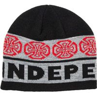 czapka zimowa INDEPENDENT - Woven Crosses Beanie BlackCharcoal (BLACK-CHARCOAL)