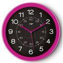 Zegar ścienny PBS Pro Gloss różowy, kolor zielony