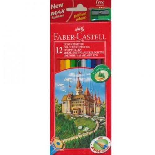 Kredki ołówkowe 12kol. Faber-Castell Eco + temp. 120112