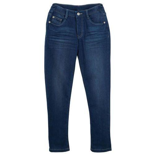 Bonprix Dżinsy dziewczęce ze stretchem slim, bardzo miękki materiał niebieski