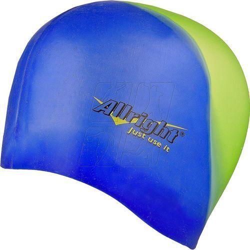 Czepek pływacki Allright silikonowy niebiesko zielony