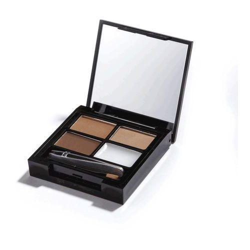 Makeup revolution Focus & fix eyebrow shaping kit zestaw do makijażu i regulacji brwi medium dark 5,8g - Rewelacyjny upust