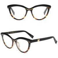 Okulary damskie kujonki zerówki panterkowe kocie