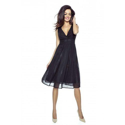 c4fec05dea Zobacz ofertę Czarna Romantyczna i Elegancka Sukienka z Kopertowym  Dekoltem