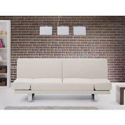 Beliani Sofa z funkcją spania beżowa - kanapa rozkładana - wersalka - york