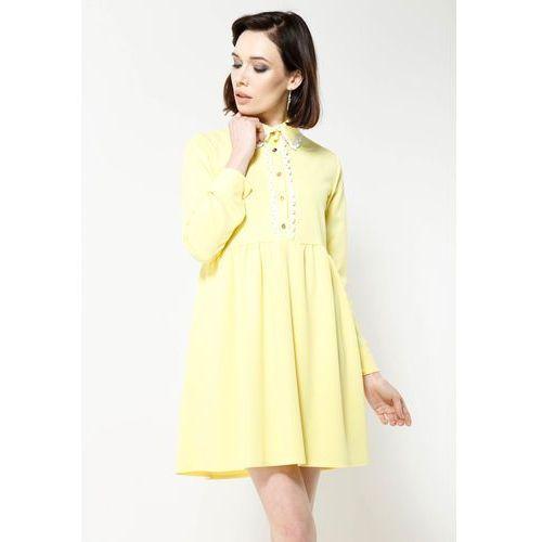 Żółta Sukienka Dance Me, kolor żółty