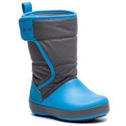 Śniegowce - logepoint snow boot k 204660 siate grey/ocean marki Crocs