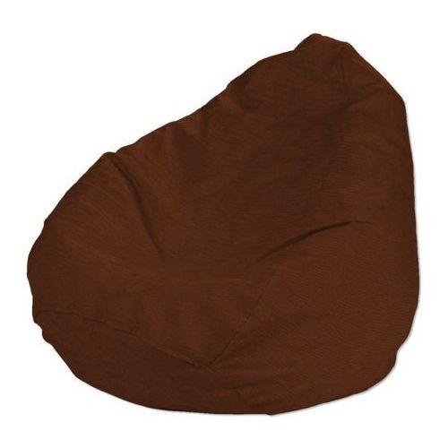 pokrowiec na worek do siedzenia, brąz, pokrowiec Ø80 × 115 cm, jupiter marki Dekoria