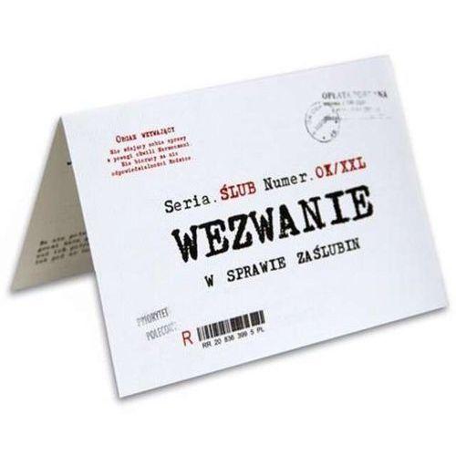 """Zaproszenia z kopertą """"ślub wezwanie"""", 10 szt marki Dekoracjepolska"""