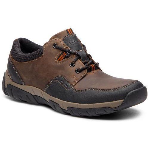 Półbuty - walbeckedge ii 261386577 brown leather marki Clarks