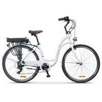 Rower elektryczny INDIANA E-City D17 Biały | 5 LAT GWARANCJI NA RAMĘ DARMOWY TRANSPORT