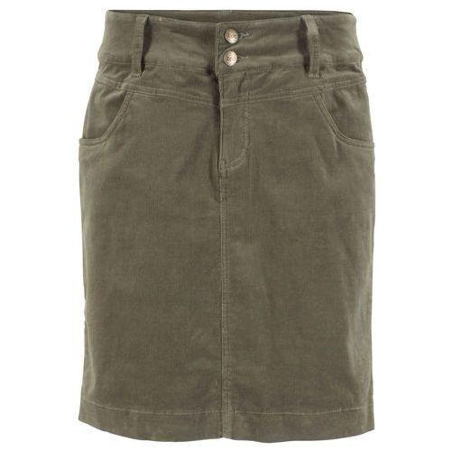 Zamszowa spódnica z ażurowym dołem musztardowa (3070