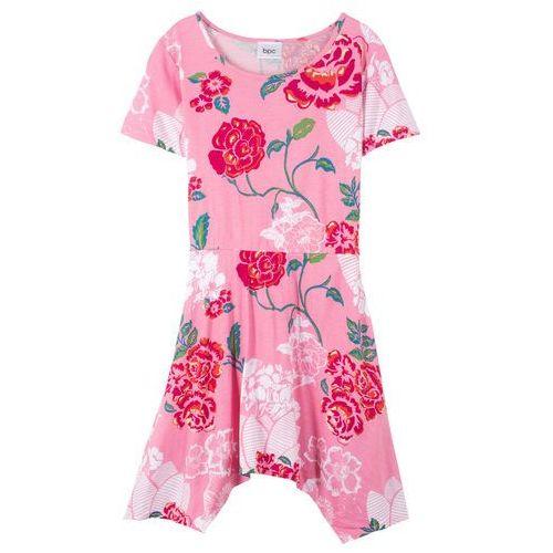 03ae7d24 Sukienka letnia dziewczęca (2 szt. w opak.) niebieski w paski + pastelowy  miętowy z nadrukiem (bonprix)