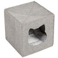 Filcowa budka dla kota do regału - dł. x szer. x wys.: 33 x 33 x 33 cm marki Zooplus exclusive