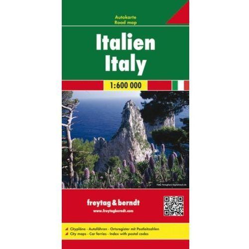 Włochy 1:600 000. Mapa smochodowa, składana. Freytag&Berndt, praca zbiorowa